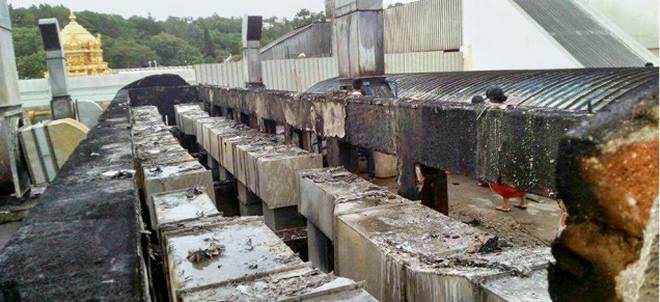 Fire breaks out at Tirumala