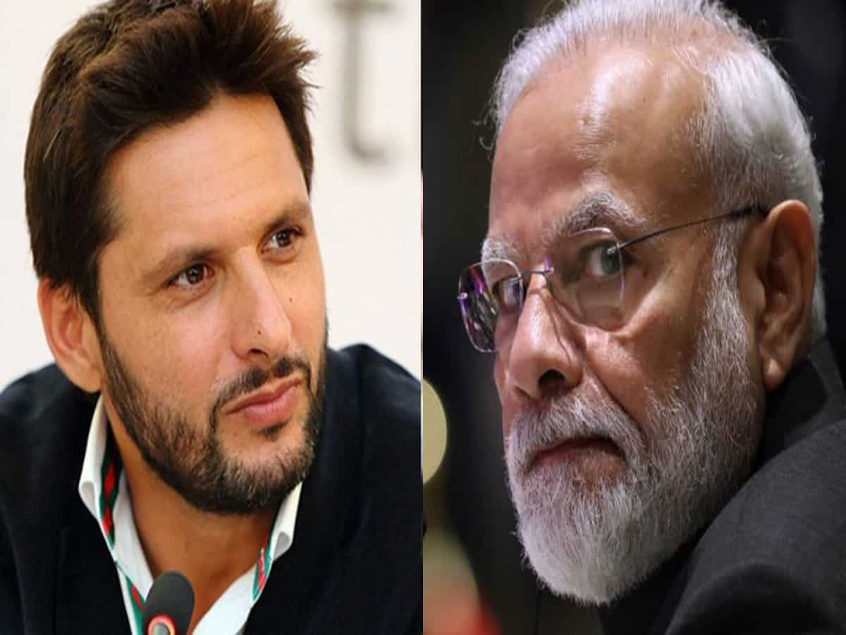 Shahid Afridi Comments on Narendra Modi