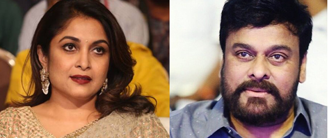 Ramya krisha Act in Chiru movie?