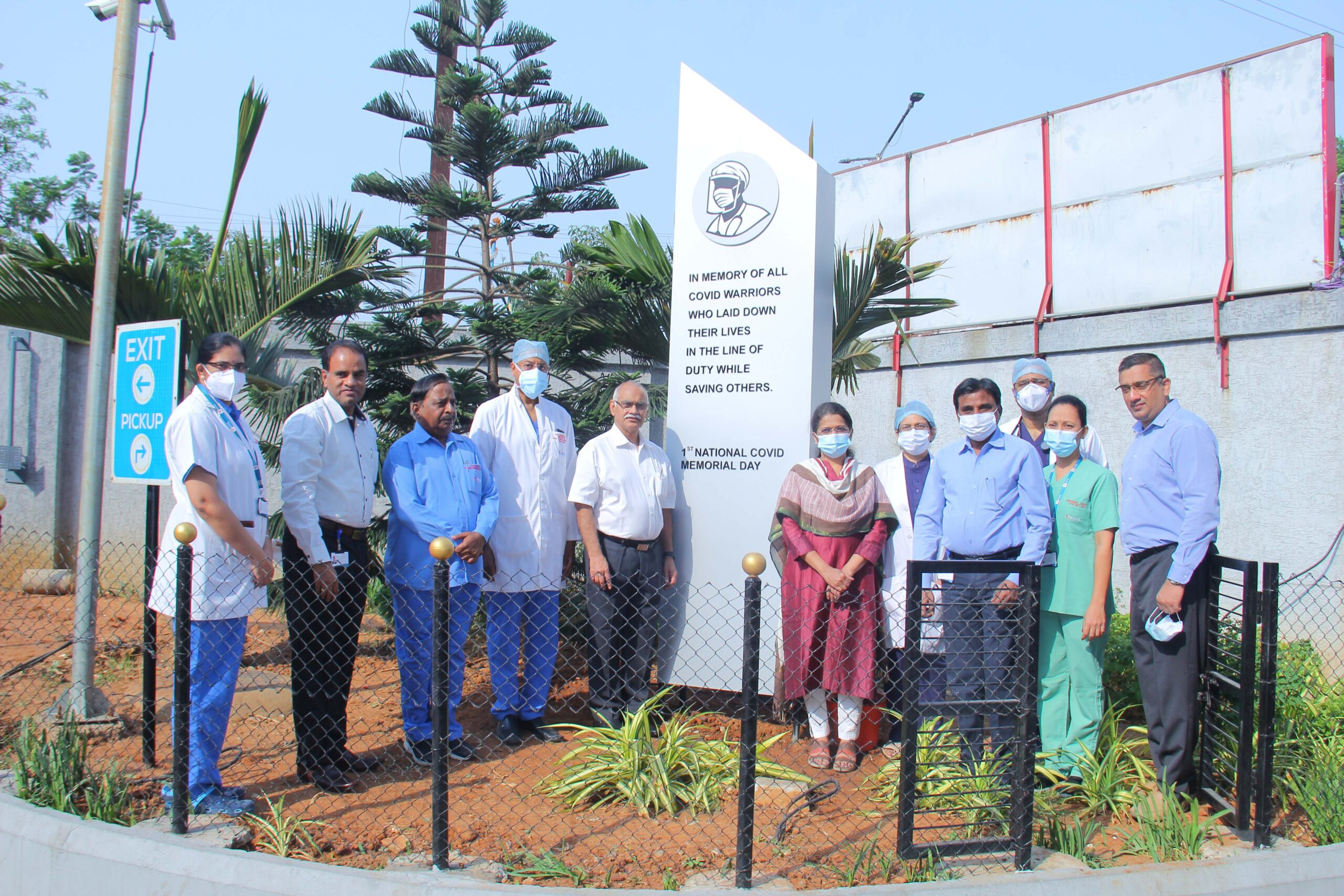 'Pylon' to mark the 1st National Covid-19 Memorial Day unveiled at KIMS Hospitals