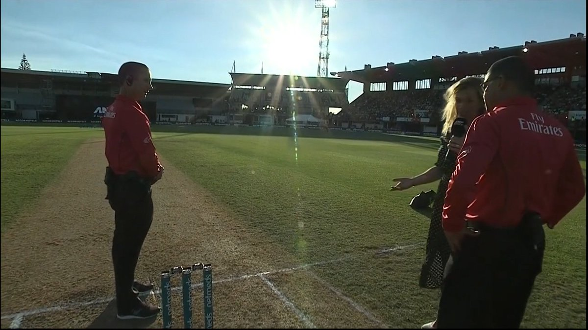 INDIA-NEW ZEALAND MATCH DELAYED BY SUN