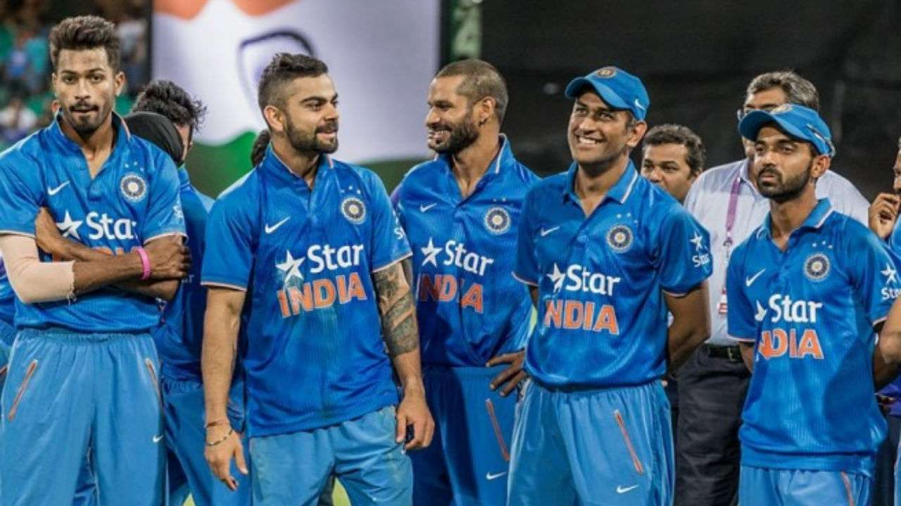 TEAM INDIA WITH NEW ZEALAND