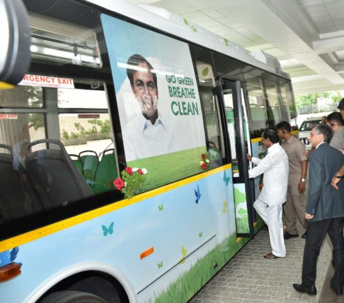 From February 5Th Pollution free Electrical Bus in Hyderabad