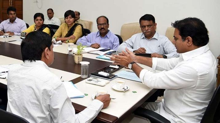 KTR holds review meeting on footpath