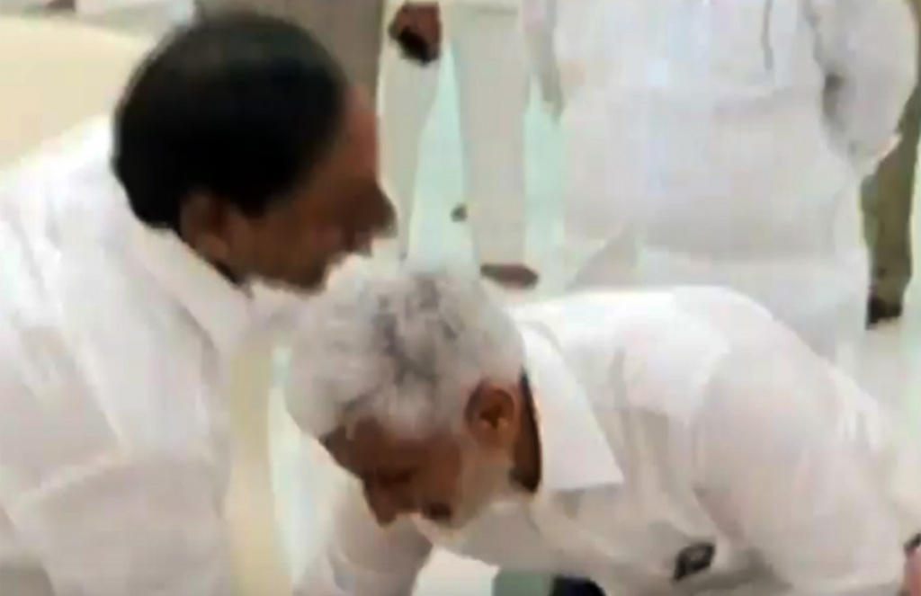 Vijayasai Reddy Touches KCR's Feet