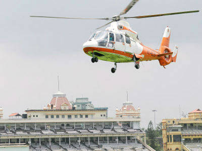 Helicopter Rounds On Tirumala Temple