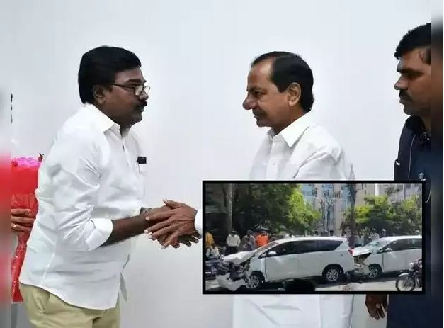 TRS Minister Puvvada Ajay Escape From Accident