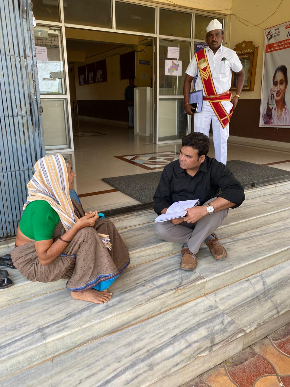 Telangana Collector Helps Old Woman