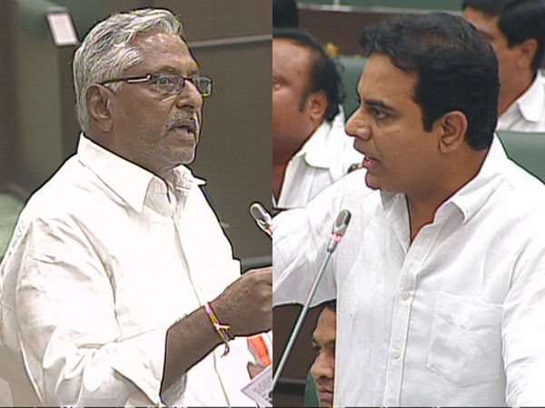 jeevan reddy fires on KTR