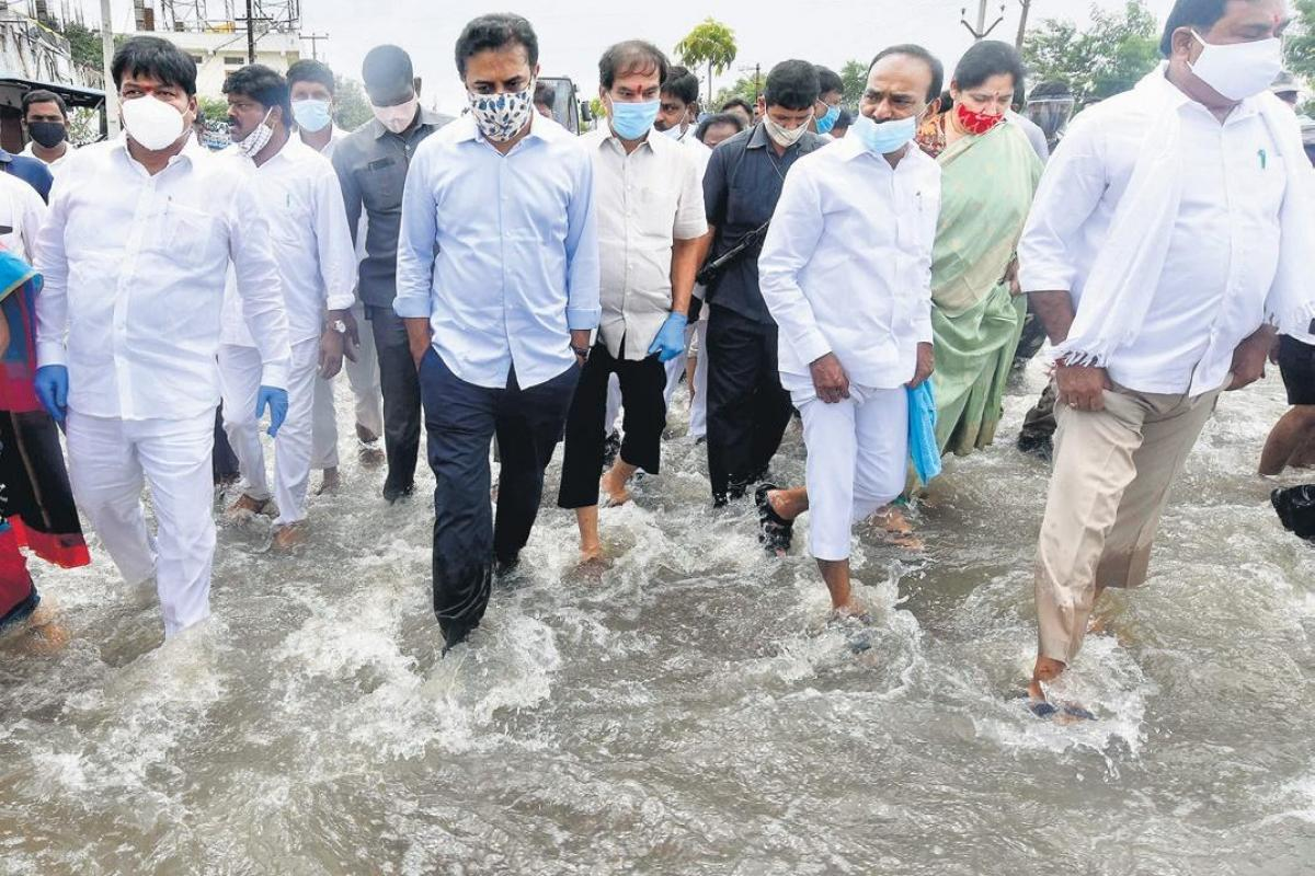 KTR visited rain water ares