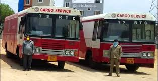 Cargo buses supply rice bags