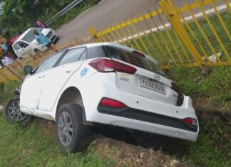 Road accident on Hyderabad Nagpur Highway