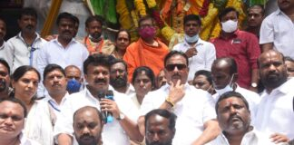 Minister HC Permission for Ganesh Idol Immersion